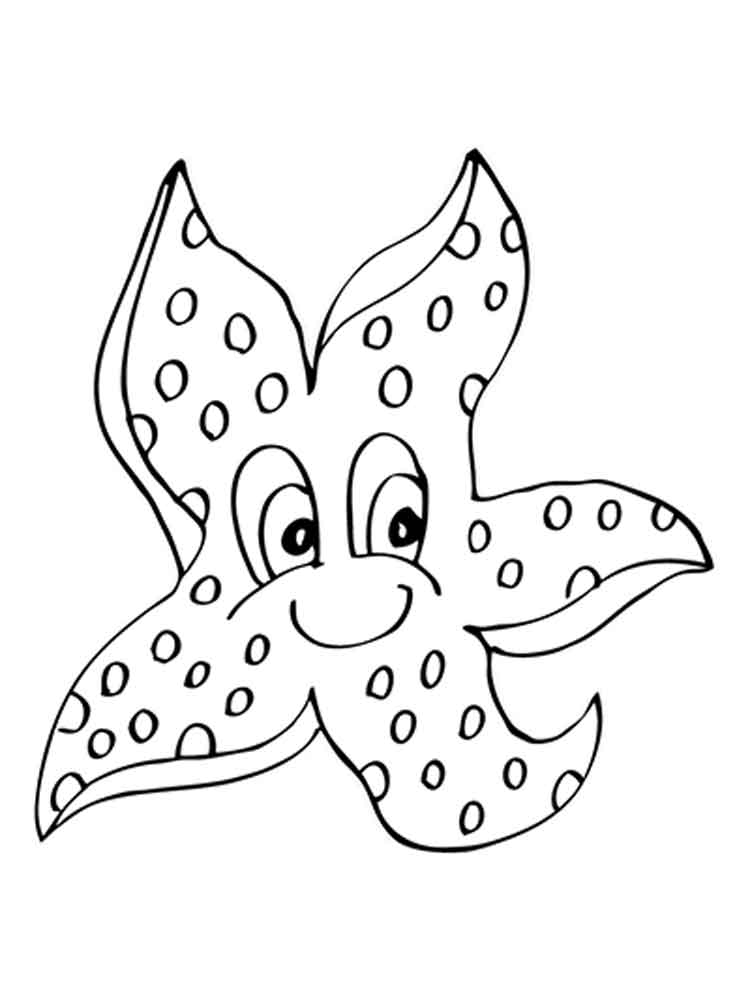 starfish coloring sheet starfish coloring pages getcoloringpagescom starfish sheet coloring