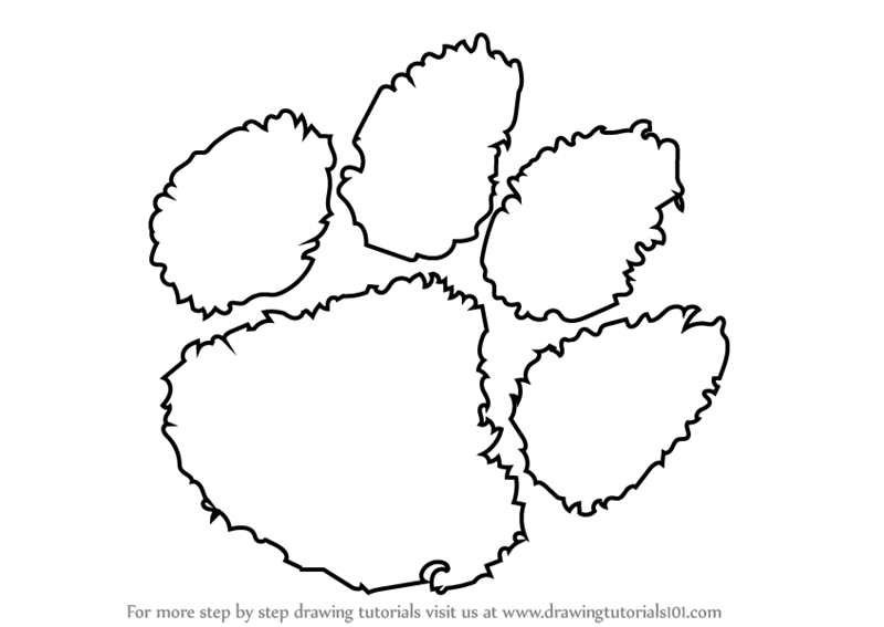 tiger paw coloring page 22 best images about tiger logos on pinterest logos page paw tiger coloring