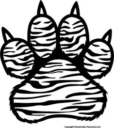 tiger paw coloring page clemson tiger paw free coloring pages coloring paw page tiger