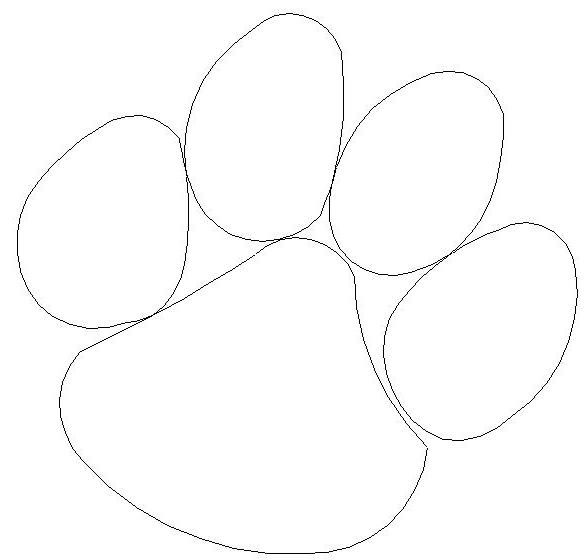 tiger paw coloring page free paw prints clipart paw coloring page tiger