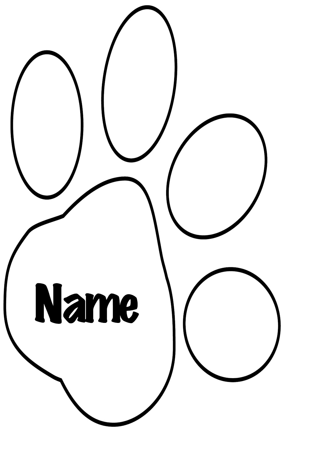 tiger paw coloring page pin by muse printables on printable patterns at page paw tiger coloring