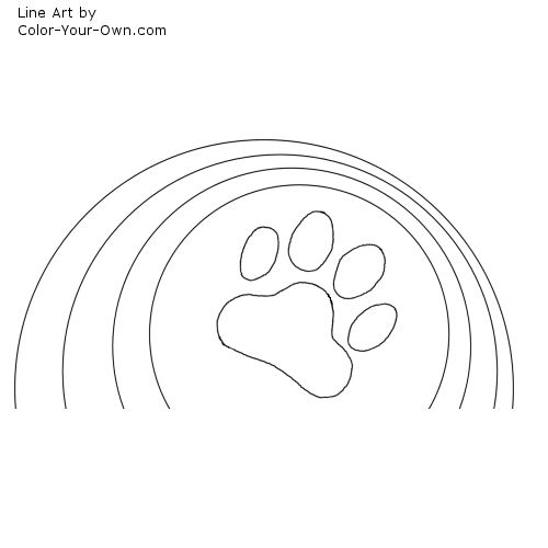 tiger paw coloring page printable paw print templates free for personal arts and tiger page coloring paw