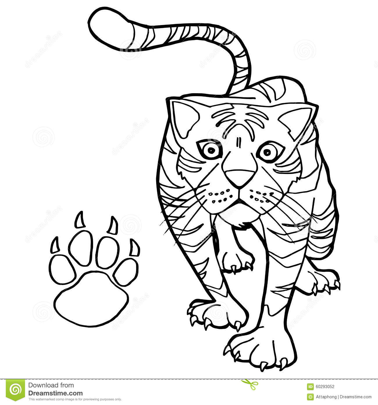 tiger paw coloring page tiger paw print outline clip art at clkercom vector coloring tiger paw page