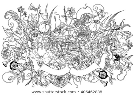 uncoloured pictures of flowers still life with flowers stock vector image 69953610 flowers pictures of uncoloured