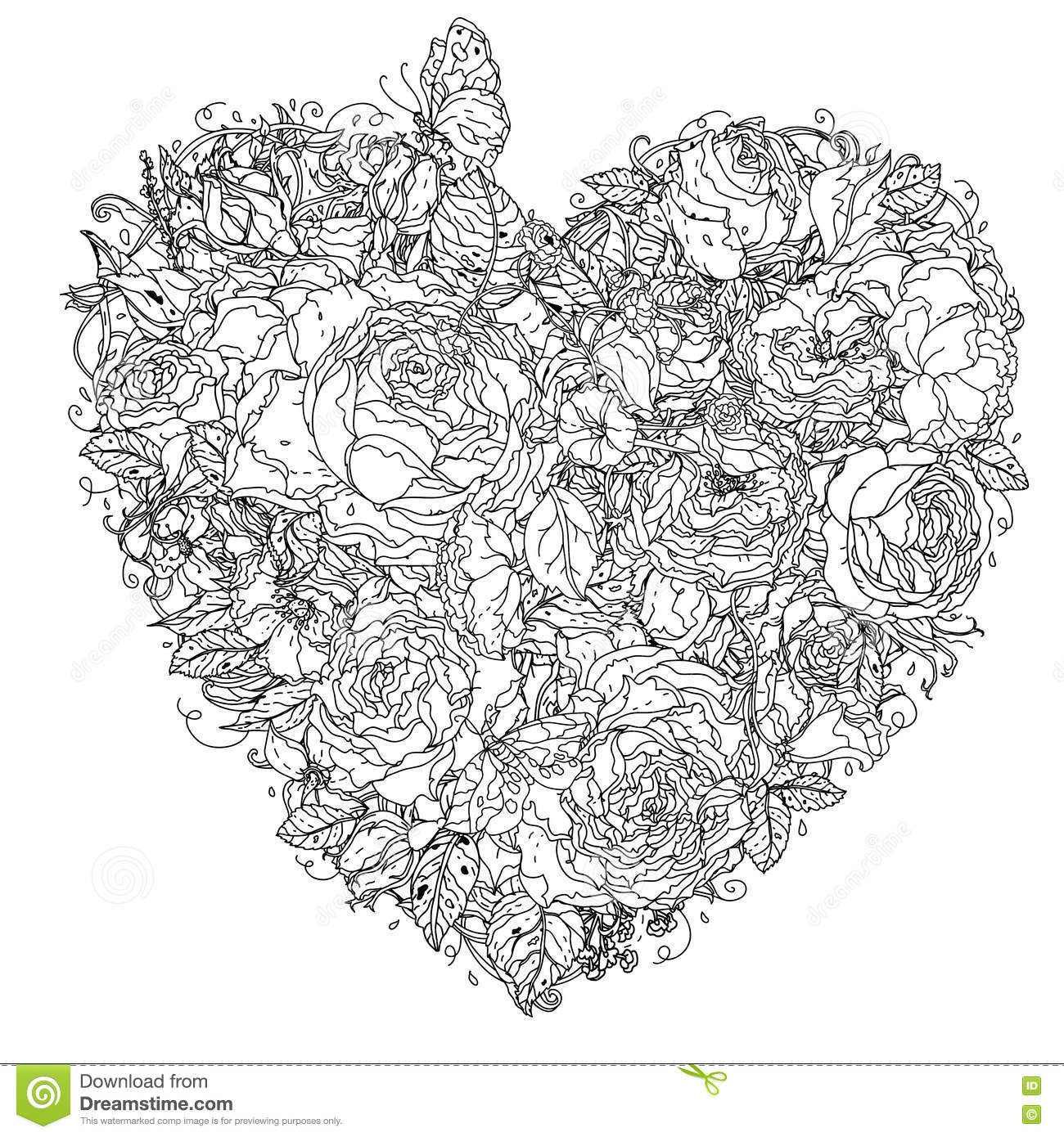 uncoloured pictures of flowers uncolored flowers in a basket and ribbon for text adult of uncoloured pictures flowers