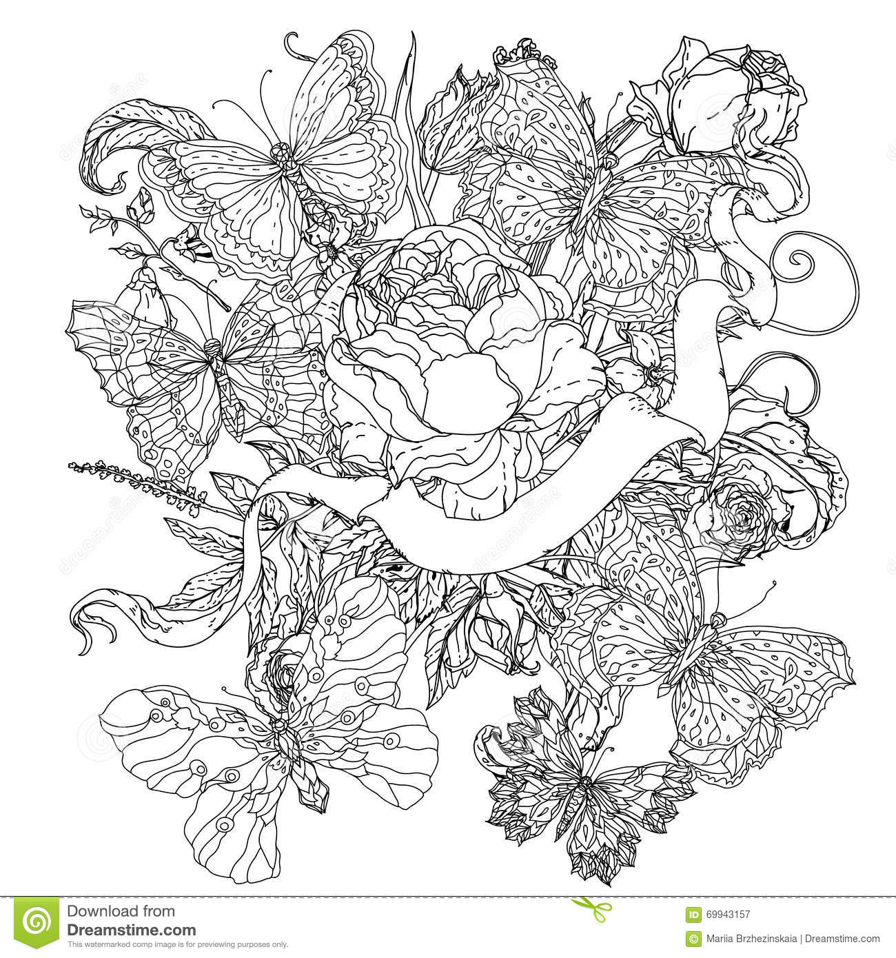 uncoloured pictures of flowers uncolored stock photos images pictures shutterstock of flowers pictures uncoloured