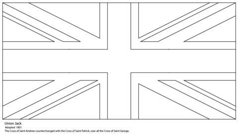 union jack flag to colour 8 best para colorear 20 de junio images on pinterest jack colour flag union to