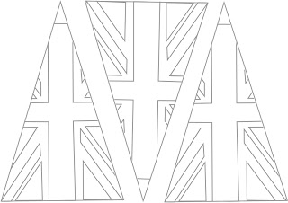 union jack flag to colour beehive bits and pieces union jack bunting template colour flag jack to union
