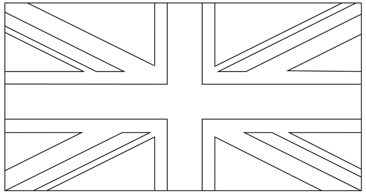 union jack flag to colour united kingdom union jack flags coloring pages for kids colour to flag union jack