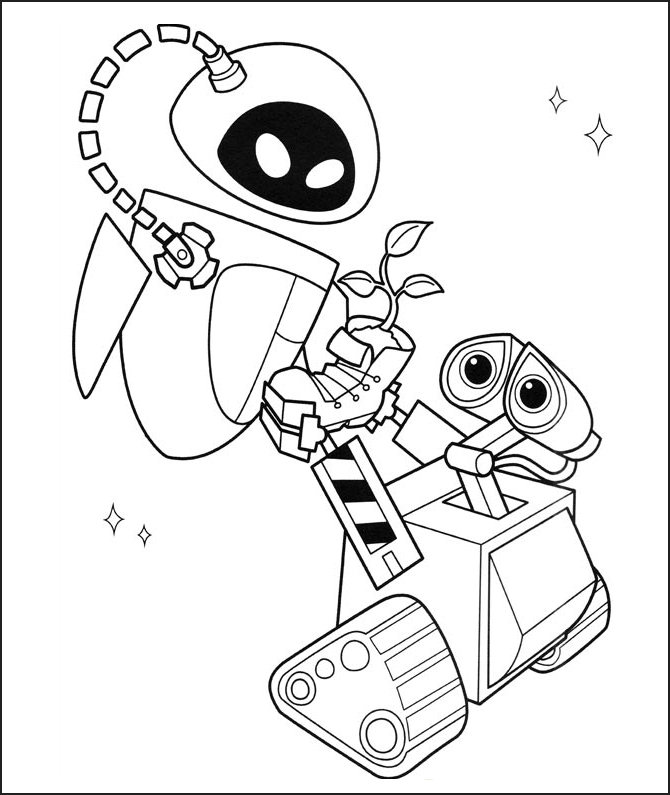 wall e colouring pages ayudemos a nuestro planeta tierra e wall colouring pages