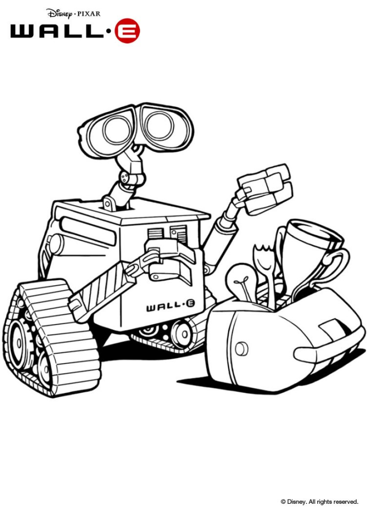 wall e colouring pages wall e and eve in space coloring pages hellokidscom e colouring wall pages