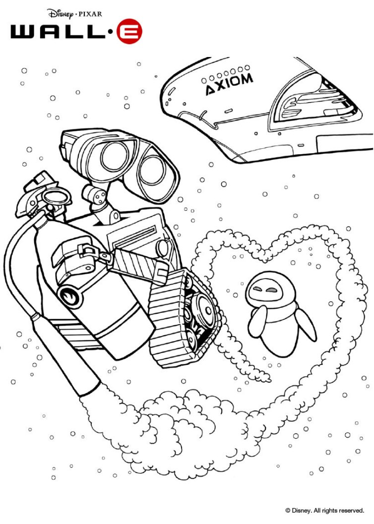 wall e colouring pages wall e kleurplaten inkleuren pages colouring e wall