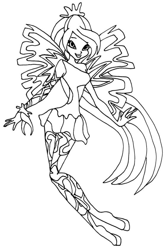 winx club bloom enchantix coloring pages winks printable coloring pages coloring home pages enchantix winx club coloring bloom