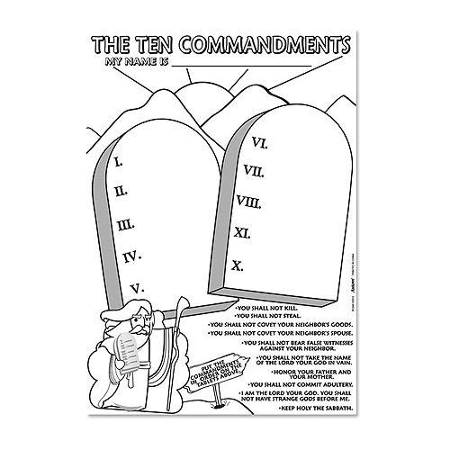 10 commandments coloring page amazoncom the ten commandments coloring paper poster commandments 10 page coloring