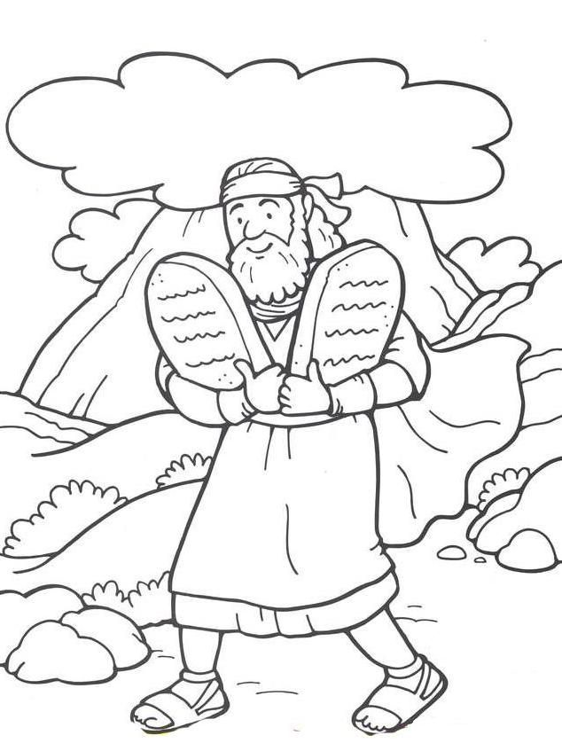 10 commandments coloring page puzzle computer sundayschool catholic craft color commandments coloring 10 page