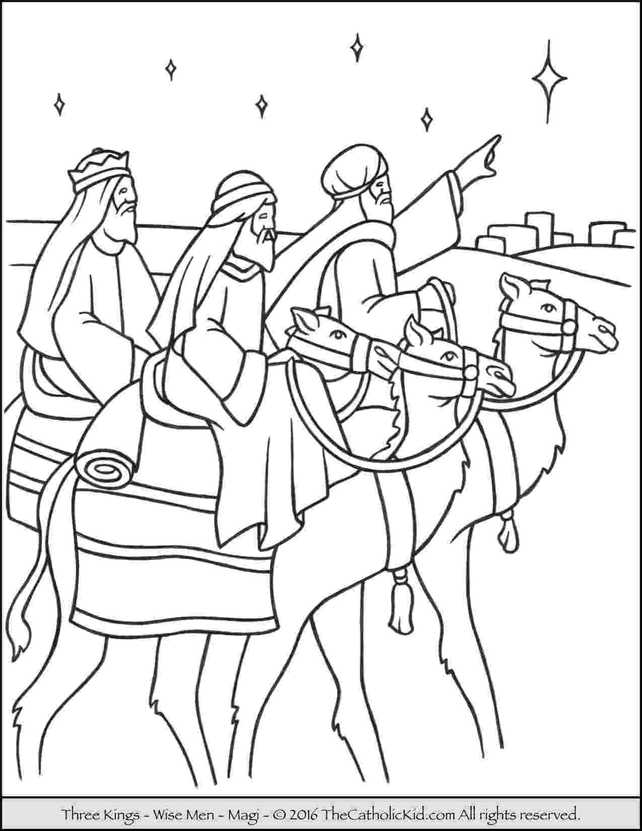 3 wise men coloring the three wise men 4 coloring page coloringcrewcom wise coloring 3 men