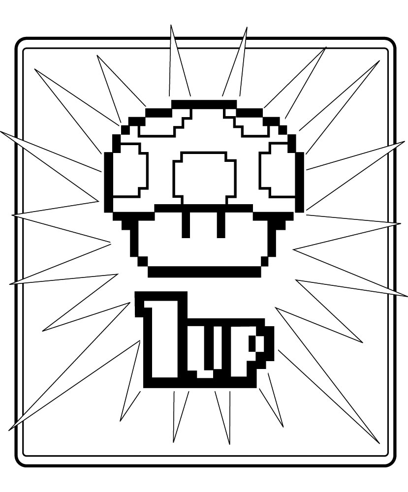 8 bit coloring pages 8 bit luigi super mario bros coloring pages sketch pages 8 coloring bit