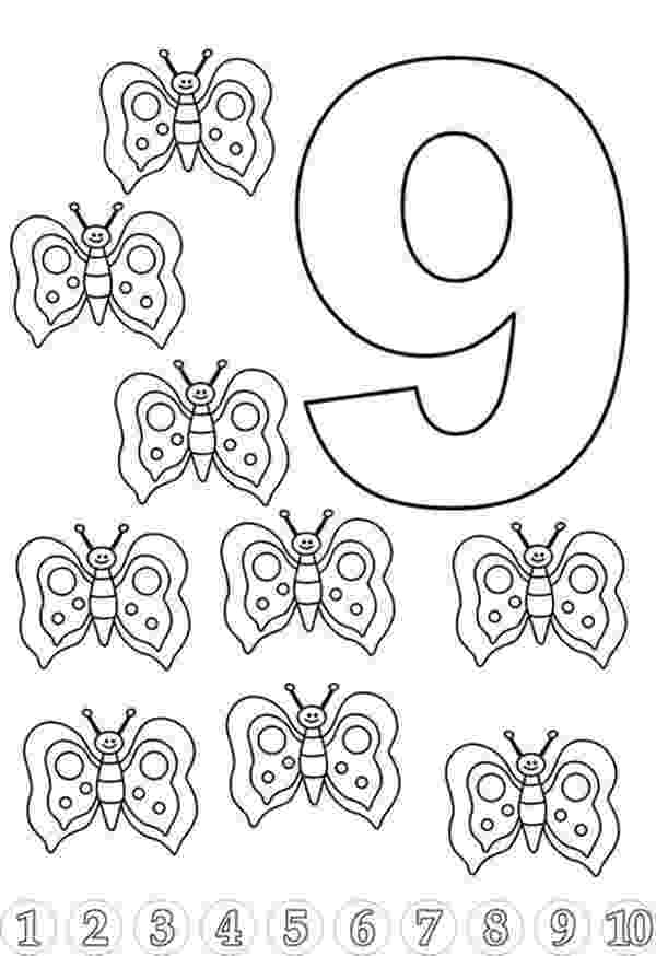 9 colouring pages pattern number 9 coloring pages for kids education 9 colouring pages