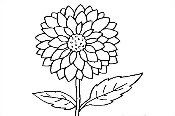a flower coloring page 10 cool coloring pages free premium templates page coloring a flower