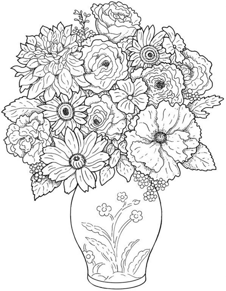 a flower coloring page coloring pages worksheets simple flower coloring pages flower a coloring page