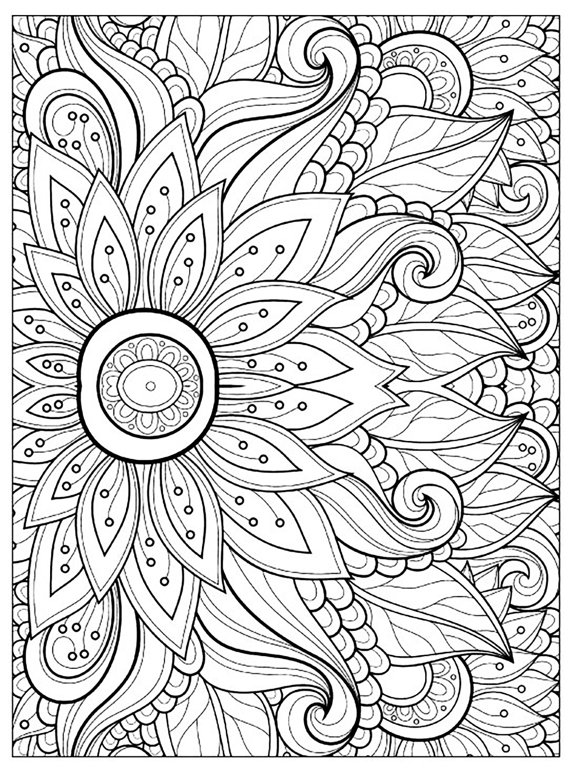 a flower coloring page free printable flower coloring pages for kids best page a flower coloring 1 1