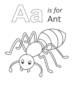 a for ant coloring pages ant coloring pages to download and print for free ant a for coloring pages