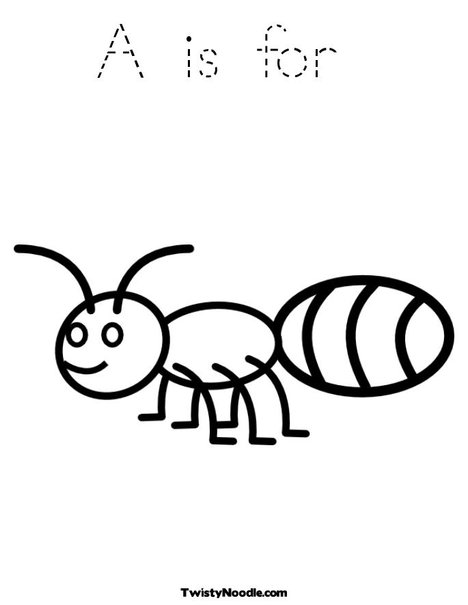 a for ant coloring pages ant coloring pages to download and print for free coloring for a pages ant