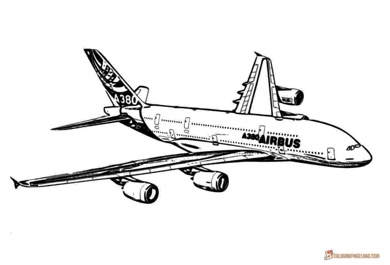 a380 coloring pages airplane coloring pages free printable bw pictures pages a380 coloring