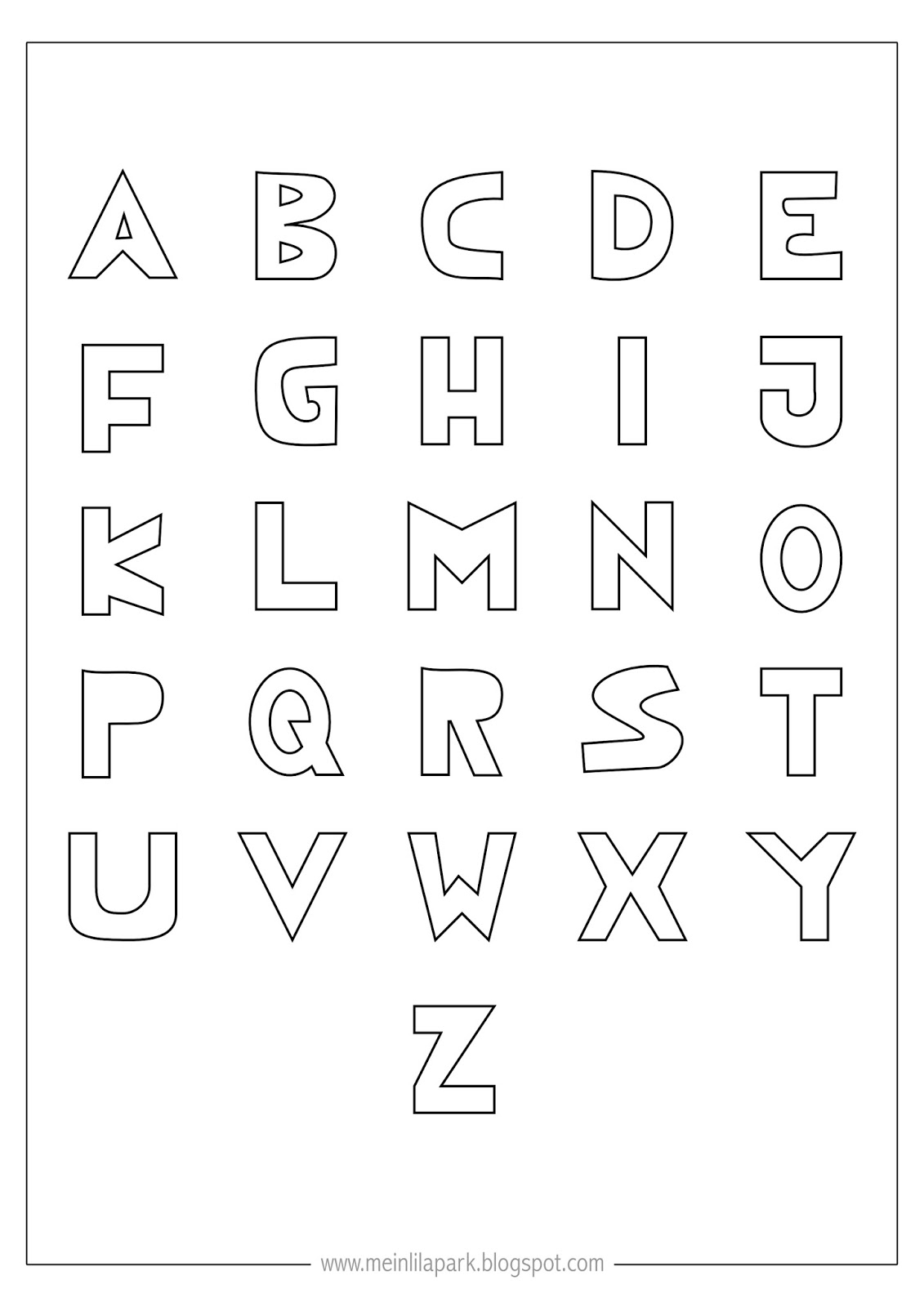 abc letters to color free printable alphabet coloring pages for kids best letters abc to color 1 1