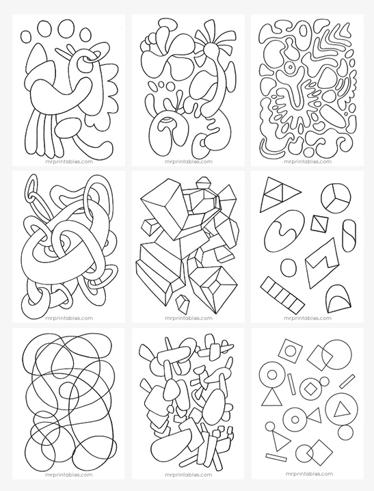 abstract coloring pages for kids free printable abstract coloring pages for kids kids coloring pages for abstract