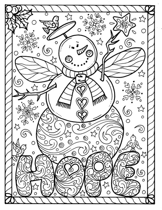 adult christmas coloring pages octopus christmas coloring page adult color holidays beach christmas pages coloring adult