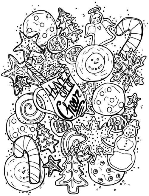 adult christmas coloring pages serendipity adult coloring pages seasonal winterchristmas adult coloring christmas pages