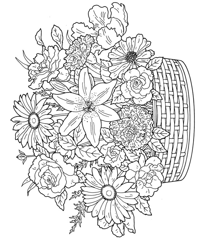 advanced flower coloring pages advanced coloring pages flower coloring page 53 flower pages coloring advanced