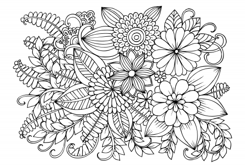 advanced flower coloring pages advanced flower coloring pages 4 kidspressmagazinecom flower pages advanced coloring
