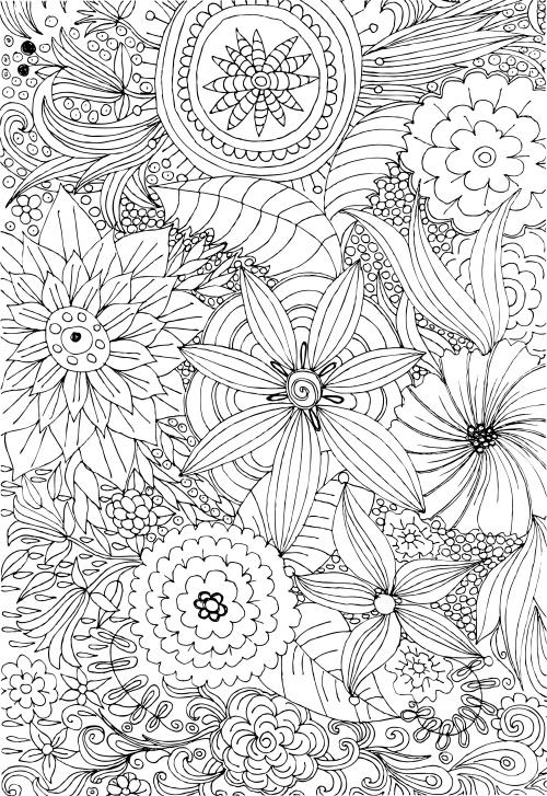 advanced flower coloring pages les 53 meilleures images du tableau pavages sur pinterest advanced flower coloring pages