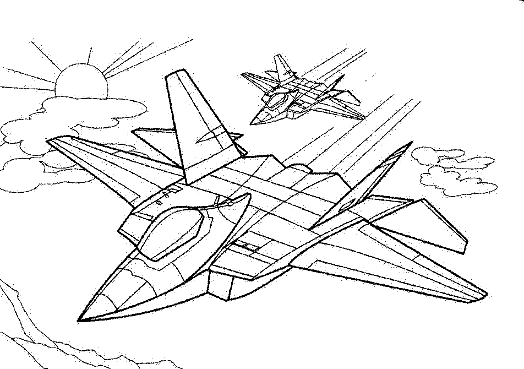 airplane coloring page fun learn free worksheets for kid ภาพระบายสพาหนะชนด coloring page airplane