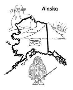 alaska flag coloring page alaska flag printout enchantedlearningcom alaska page coloring flag
