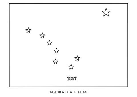 alaska flag coloring page colouring book of flags united states of america coloring alaska flag page