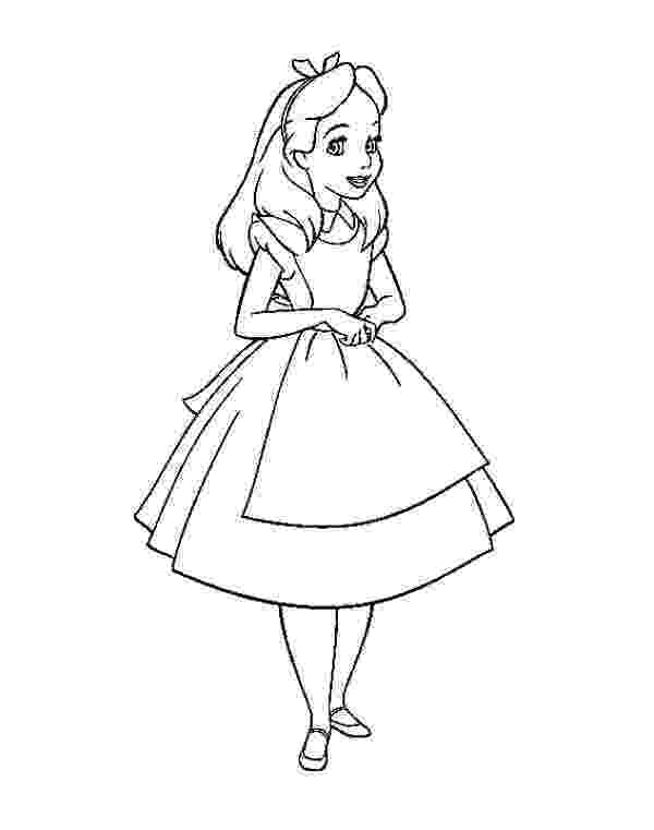 alice in wonderland coloring pages alice in wonderland coloring pages disneyclipscom wonderland pages coloring alice in