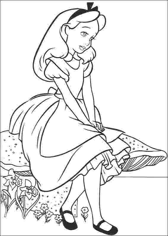 alice in wonderland coloring pages cartoon design alice in wonderland coloring pages from disney pages coloring in alice wonderland