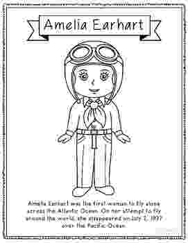 amelia earhart coloring page amelia earhart coloring page craft or poster with mini page earhart coloring amelia