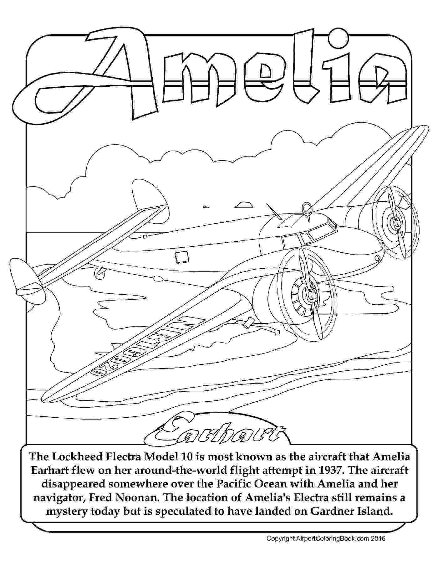 amelia earhart coloring page amelia earhart coloring page free printable coloring pages page earhart coloring amelia