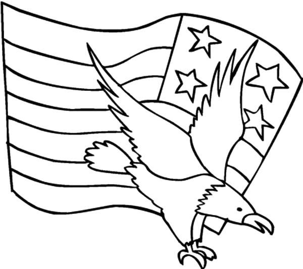 american eagle coloring sheet american flag and american eagle for independence day coloring sheet american eagle