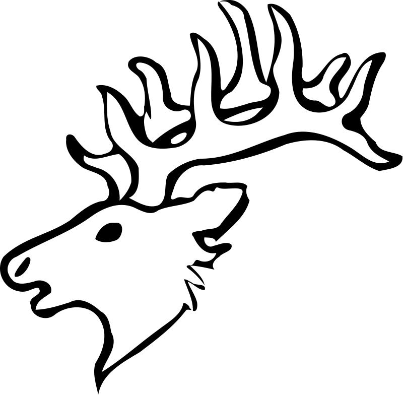 animal head coloring pages deer head outline printable deer head silhouette pages coloring head animal