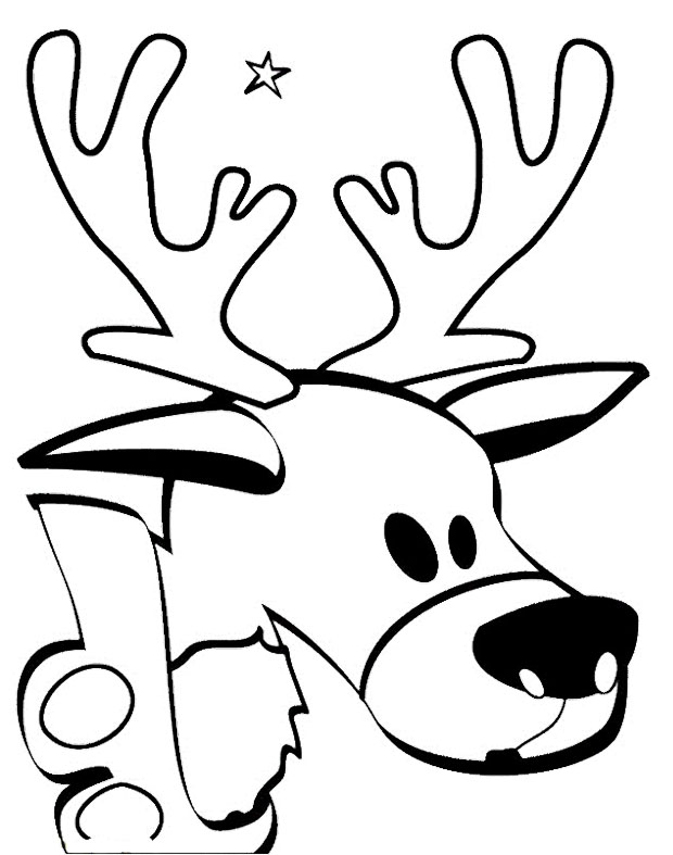 animal head coloring pages whitetail buck drawing at getdrawingscom free for head animal coloring pages