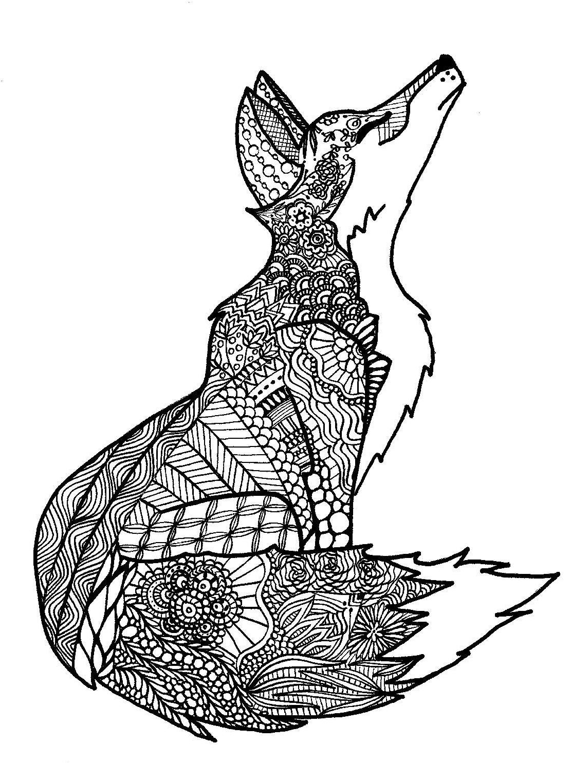 animal pattern colourings kearney woman39s zentangle coloring book stems from her pattern animal colourings