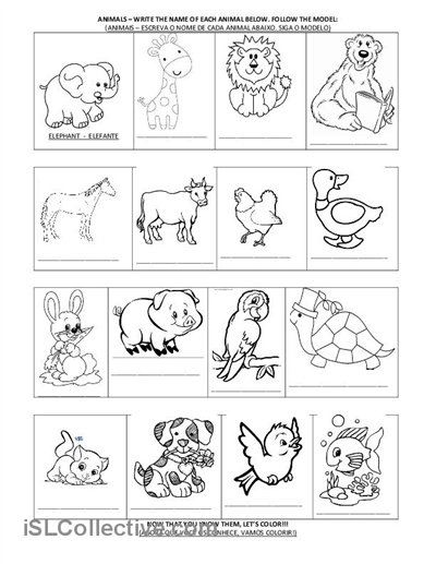 animal printables for kindergarten kindergarten preschool reading writing worksheets animal for printables kindergarten