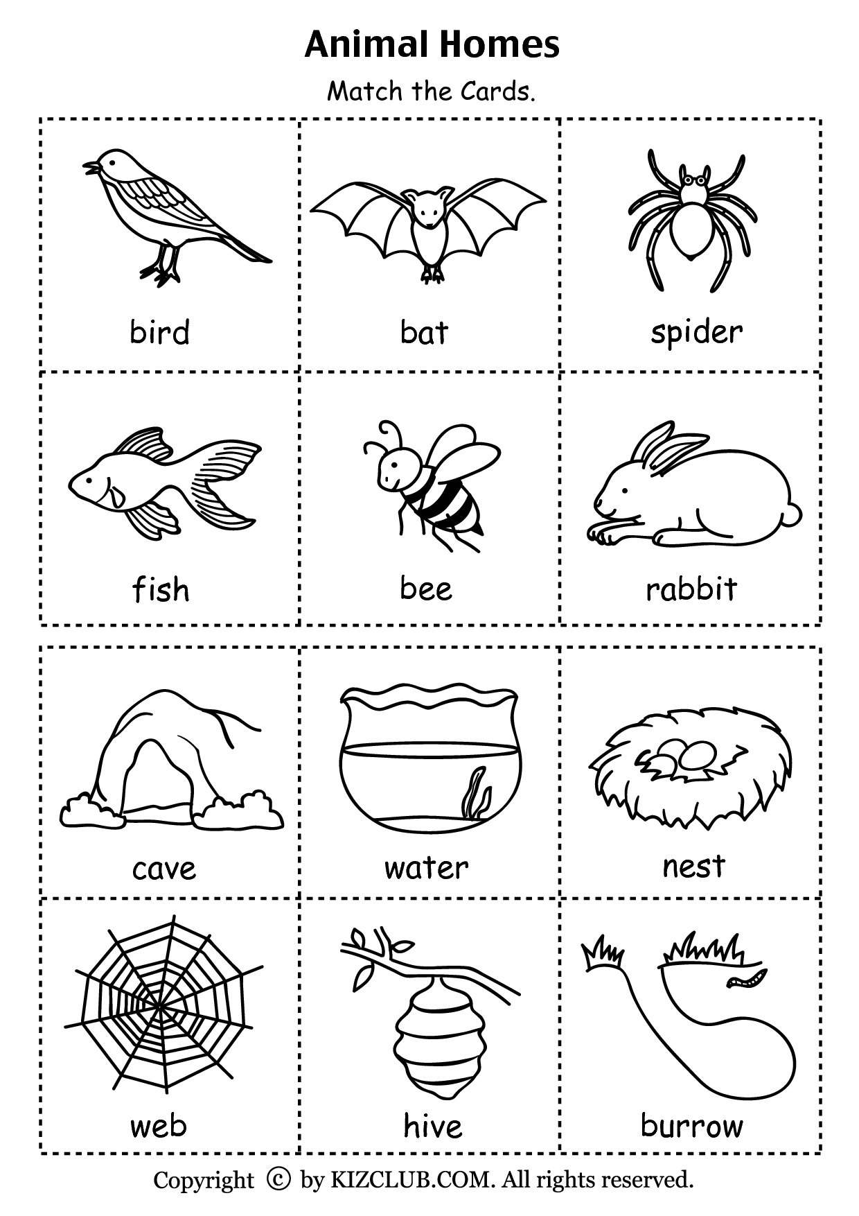 animal printables for kindergarten worksheets for preschoolers matching animals match the for animal kindergarten printables