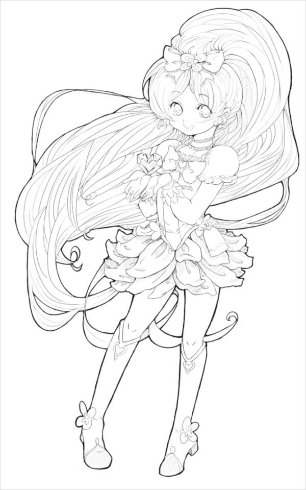anime color page 7 anime coloring pages pdf jpg free premium templates page color anime