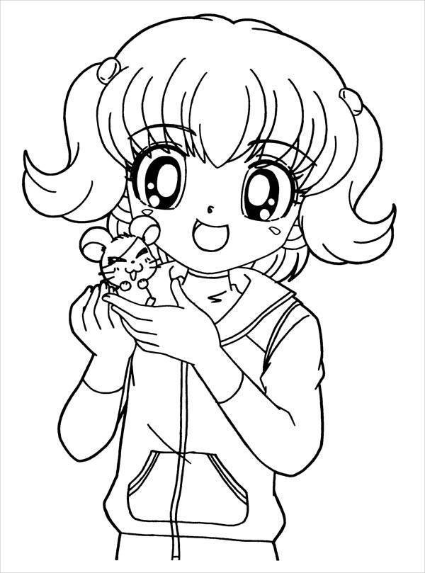 anime color page 8 anime girl coloring pages pdf jpg ai illustrator page color anime